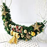 Christmas rattan star decoration door ornaments hotel mall layout ( Color : Gold )