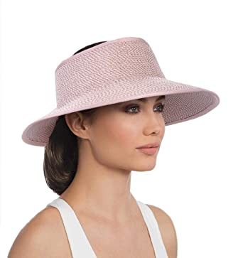 Eric Javits Luxury Women s Designer Headwear Hat - Lil Squishee Visor -  Blush d966359530e