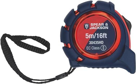 Spear & Jackson 30435HD Heavy Duty Soft Feel Measuring Tape, Red/Blue, 5 m: Amazon.co.uk: Garden & Outdoors