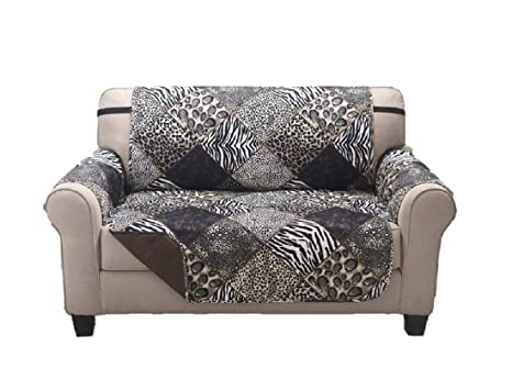 Terrific Deluxe Reversible Loveseat Slipcover Furniture Protector Seat Sofa Chair Couch Quilted Anti Slip 2 Inch Strap Machine Washable Slip Cover Throw Squirreltailoven Fun Painted Chair Ideas Images Squirreltailovenorg