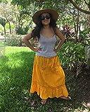Mexican yellow maxi long skirt