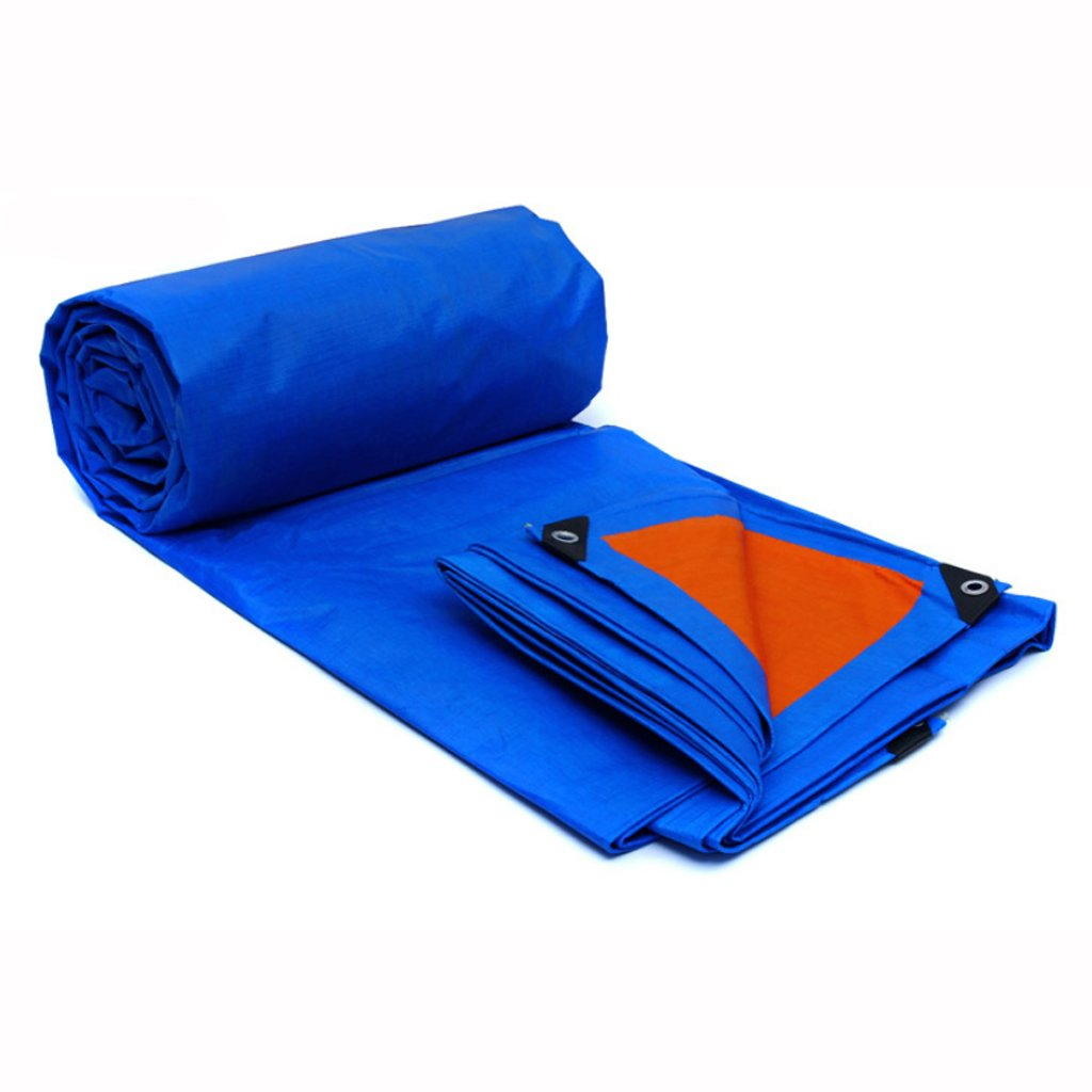 防水 防水性の雨のプラスチックの防水布の天幕布車の車のサンシェードの防水布布のテント布 B07F6J66Z7 6*4m|Blue orange Blue orange 6*4m