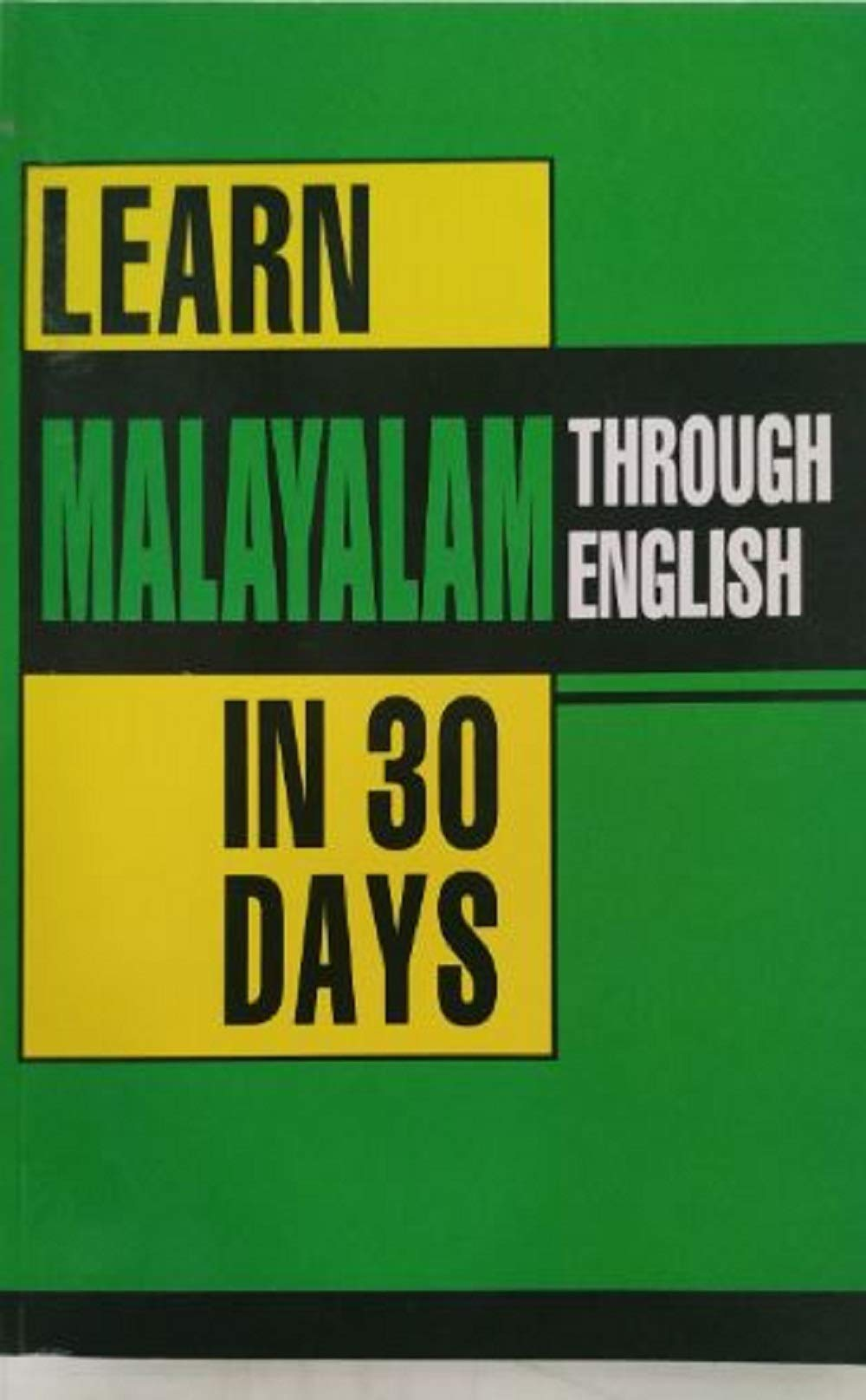 Buy Learn Malayalam in 30 Days Through English Book Online at Low