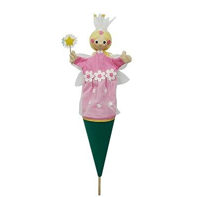 ABA 57cm Fleur Fée pop-up Marionnette (Rose)