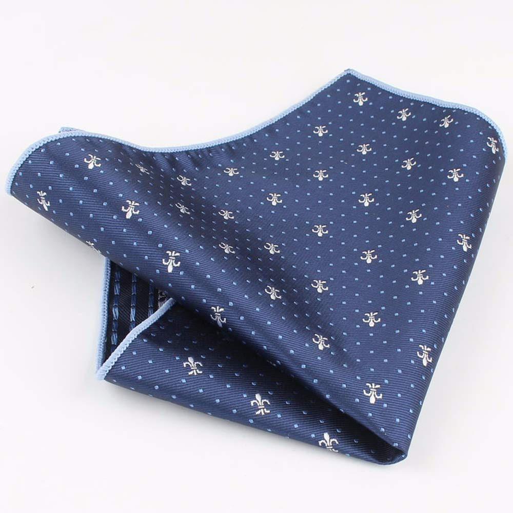 Yevison Men's Suit Pocket Towel Business Handkerchief Is Decorated with Chest Blue