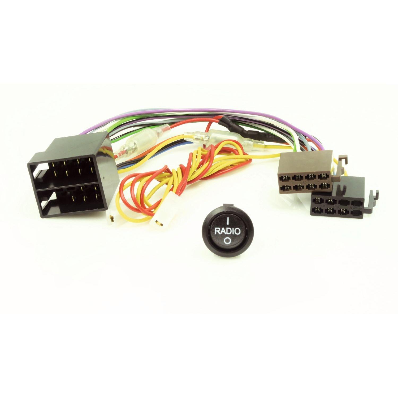 Caratec Install CI200A Stromadapter, Radio EIN/Aus Wippschalter, ermö glicht Einschalten ihres Radios bei ausgeschalteter Zü ndung
