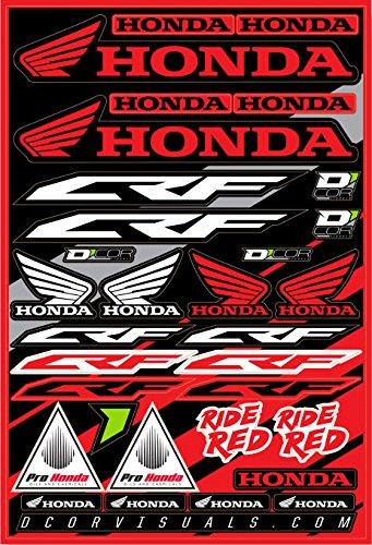 Dcor Visuals 40-10-100 Decal Sheet Honda Crf 12x18