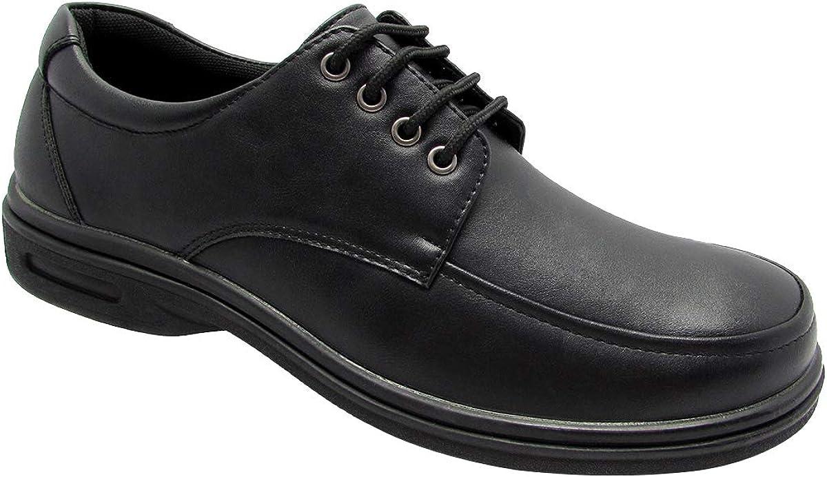 Stylish & Comfort Shoes Men's Slip-On Non Slip Food Service Work Shoe Slip Resistant Loafer