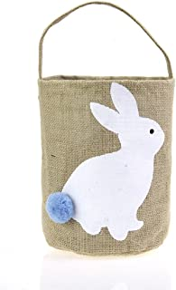 T & S Cestino di Pasqua per Bambini Bunny Bag per Pasqua Hunt (Bianco) TS