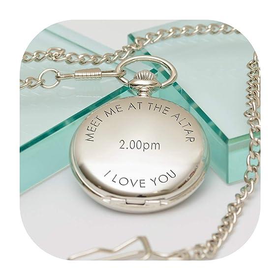 Reloj de Bolsillo Personalizable con Mensaje en inglés Meet me at The Altar: Amazon.es: Relojes