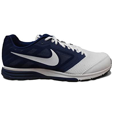 Nike Men's Zoom Fly Team Running Shoe (13, White/White-Midnight Navy