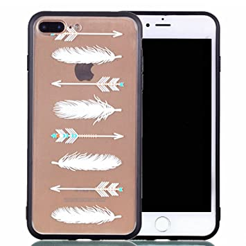 coque iphone 7 plume blanche