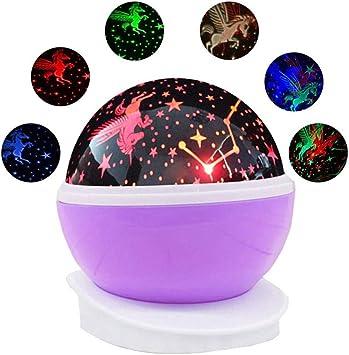 YJDQXKD Iluminación Proyector Estrellas,Varios Efecto de Luz Girar ...