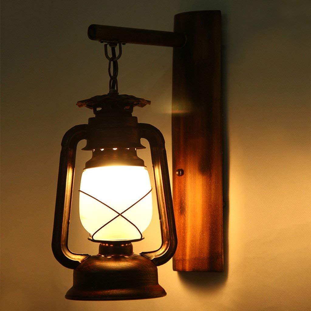 YAN Lámparas de Pared Retro Caballo de la Mosca Queroseno Hierro Ligero Pasillo Personalidad Creativa Pasión Bar Cafetera Cafetería Lámparas Colgantes
