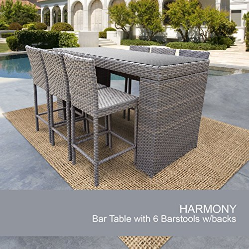 Harmony Bar Table Set With Barstools 7 Piece