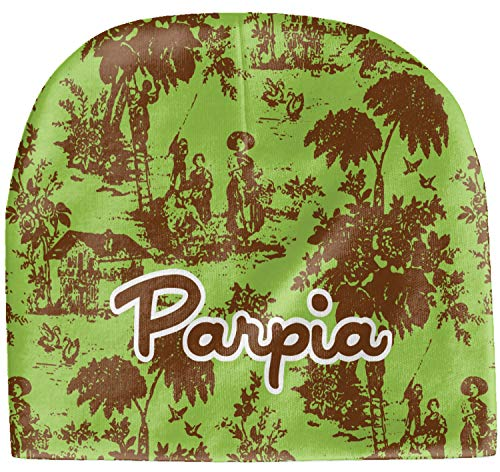 Accessories Baby Green Toile - YouCustomizeIt Green & Brown Toile Baby Hat (Beanie) (Personalized)