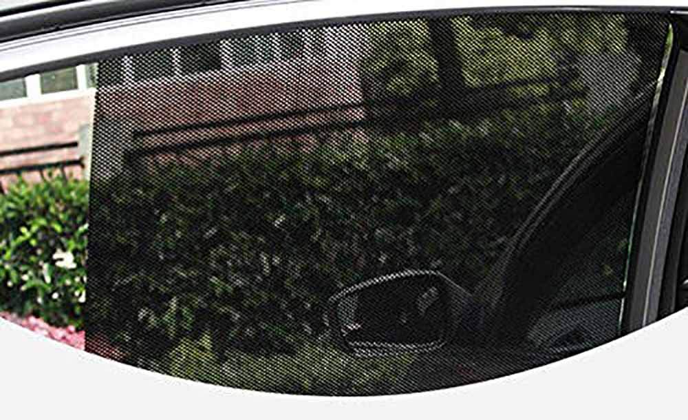 Rainbowrose Reusable Perforated Static Cling Vehicle Screen Windshield Film for Baby Kids UV Protection 16.5X12.4 Car Sunshade Sticker Pack of 2