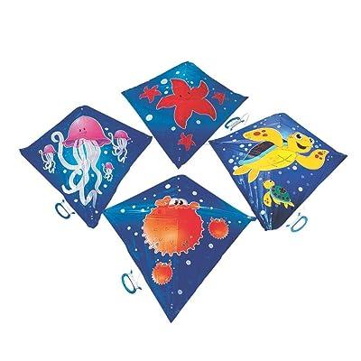 Fun Express - Sea Life Kites - Toys - Active Play - Flying Discs & Kites - 12 Pieces: Toys & Games