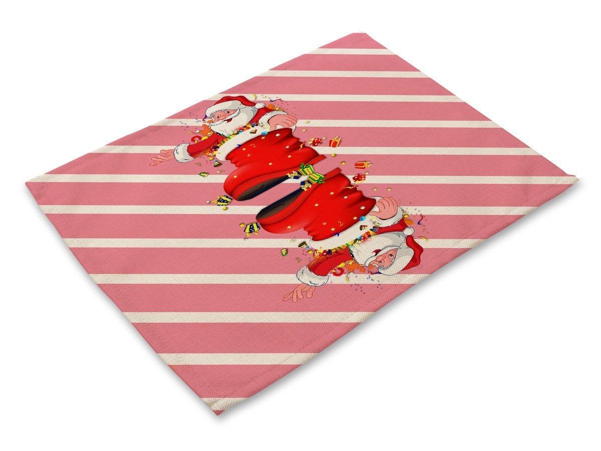 Sucastle 4er Set Platzdeckchen Abwaschbar Tischsets Baumwolle und ...