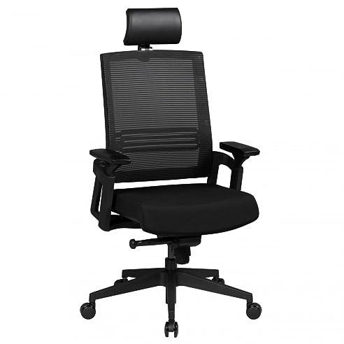 Bürostuhl ergonomisch höhenverstellbar  AMSTYLE Bürostuhl APOLLO A1 Stoffbezug Schreibtischstuhl ...
