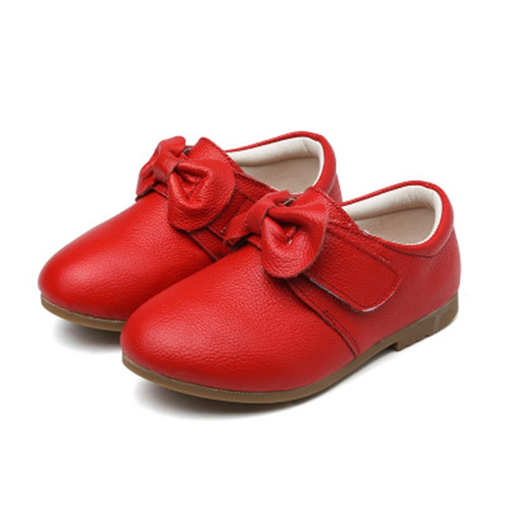 Facnyww Infant Kids Girls Solid Non-Slip Leather Sneaker Casual Single Shoes