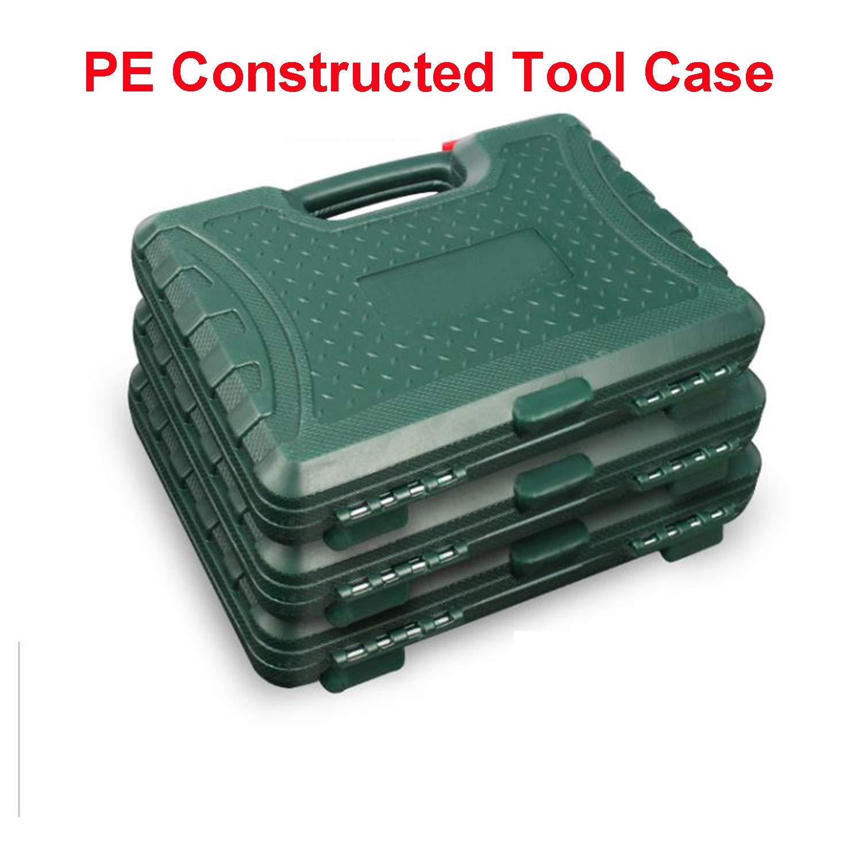 150-Piece SAE//Metric Mechanics Tool Set Professional Automotive Automobile Repairing Tool Set Auto Reparing Vehicle Maintenance Tool Kits Ya Xing