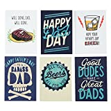 Hallmark Studio Ink Funny Father's Day Card Assortment for Friends, Family and Dad (6 Cards with Envelopes)