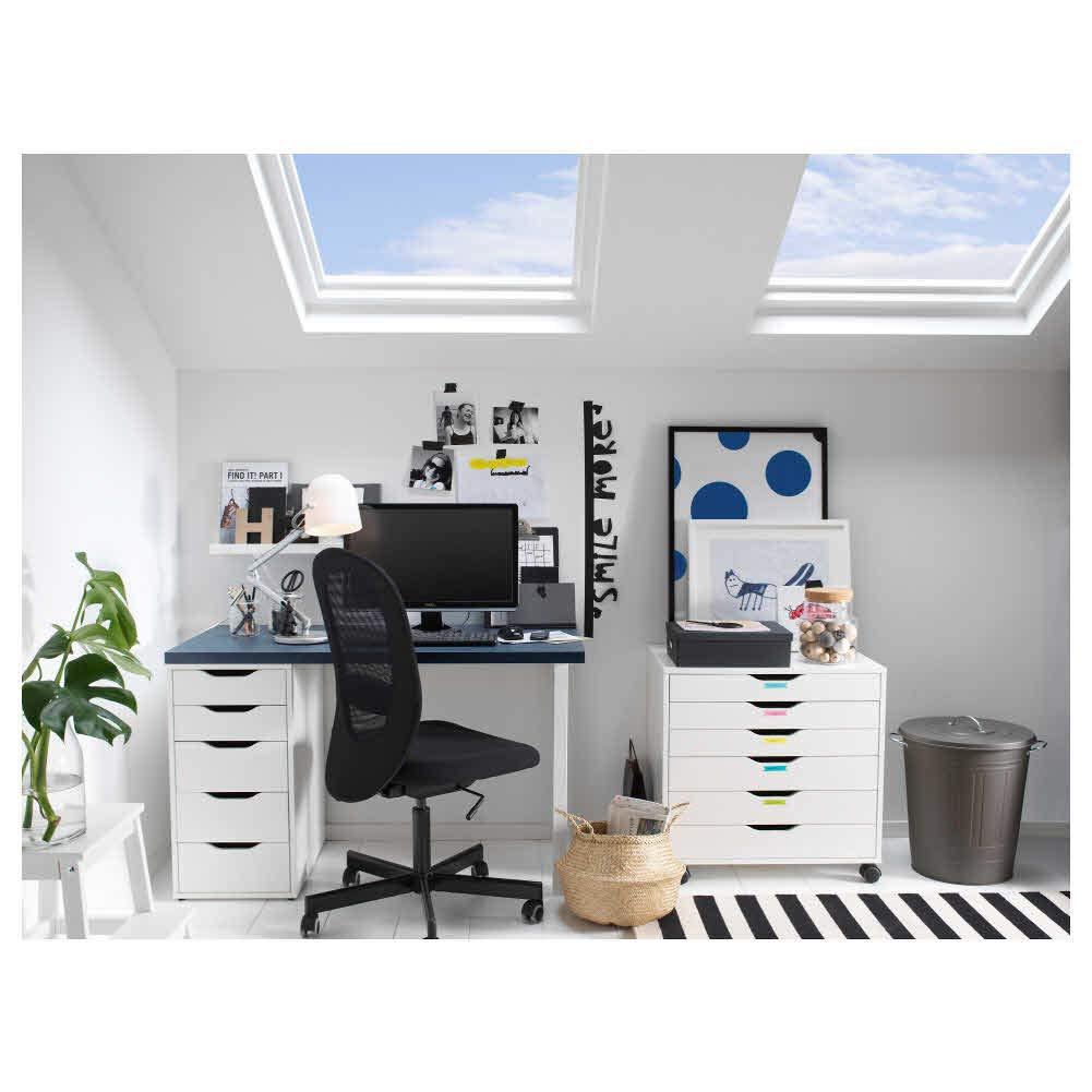 IKEA ASIA Alex - Cajonera, Color Blanco: Amazon.es: Hogar