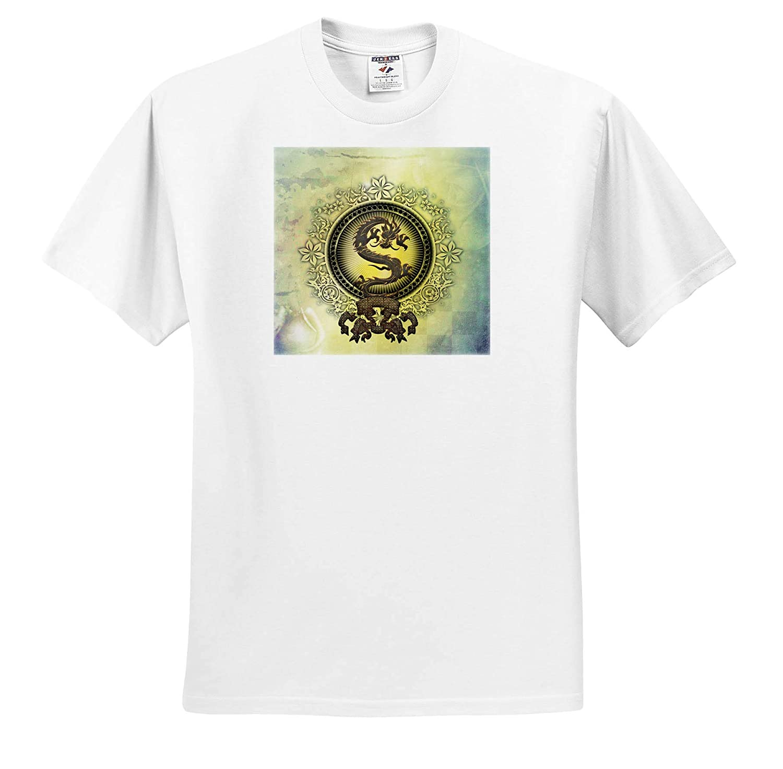 Beautiful Decorative Dragon on Vintage Background Adult T-Shirt XL 3dRose Heike K/öhnen Design Sign Symbol ts/_310249