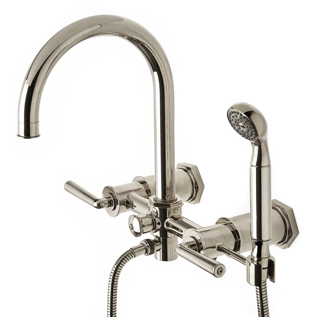 Waterworks Henry Exposed Tub Faucet with Handshower in Burnished Nickel