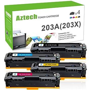 Aztech 4 Pack XL Toner Compatible para Samsung CLT-K404S CLT-404S ...