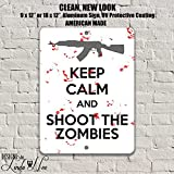 Zombie Wall Art, Zombies, Zombie Decor, Gift for Gamers, Gaming Wall Art, Metal Signs, College Dorm Decor, College Student GIFT, Guns