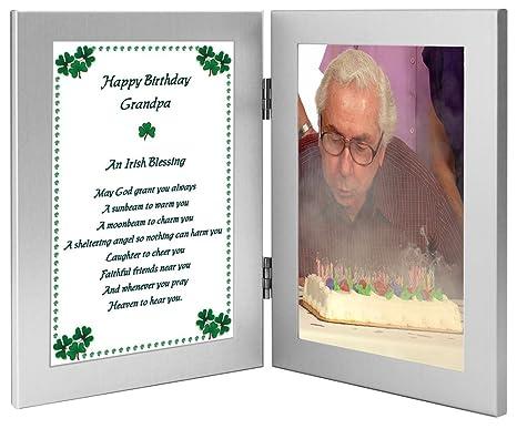 Amazon.com: Marco doble de feliz cumpleaños Grandpa – regalo ...