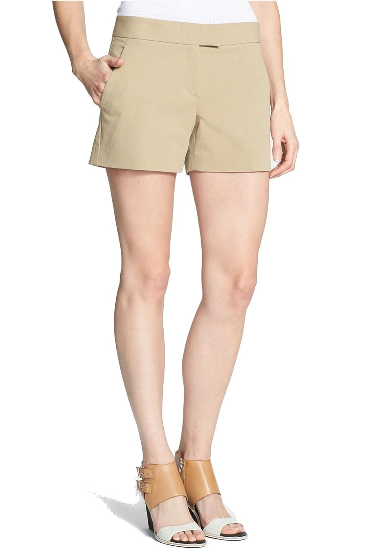 Theory Lynie N.B. Stretch Cotton Shorts