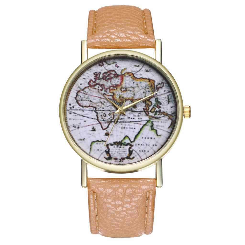 Reloj Temperamento Clásico Cuero Reloj De Cuarzo Señoras ...