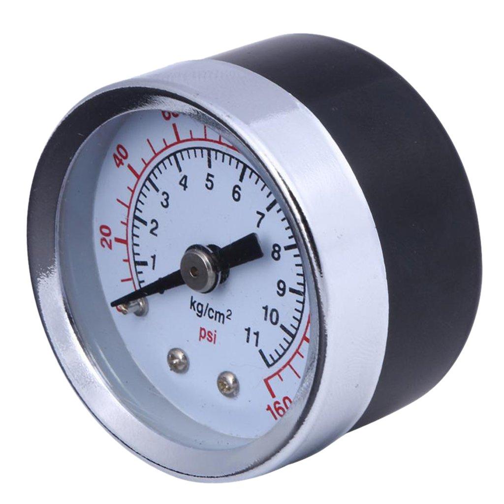 Sharplace 1/8' NPT Pressure Gauge Compressor Manometer Air Oil Pressure Meter 1.5' Face