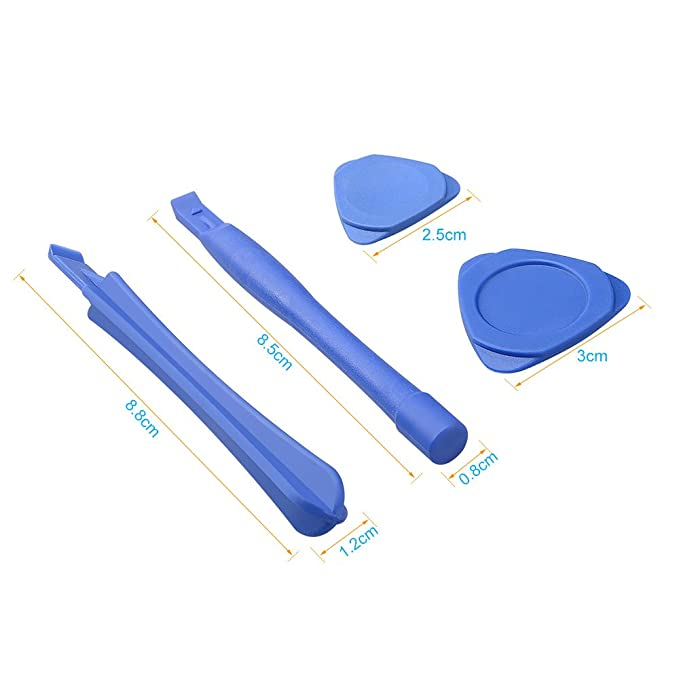 Asiv 16 Piezas Kit de Herramienta de Reparación Destornillador Precisión para iPad, iPhone, Samsung y Otros Dispositivos