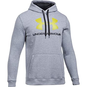 Under Armour Herren Fleece Hoodie Rival 1302294 True Gray Heather Black XS c0855958b7