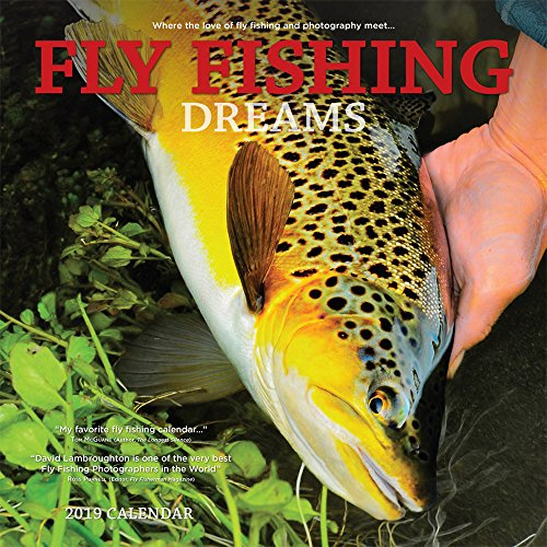 Fly Fishing Dreams 2019 12 x 12 Inch Monthly Square Wall Calendar by Wyman, River Lake Outdoor Sport