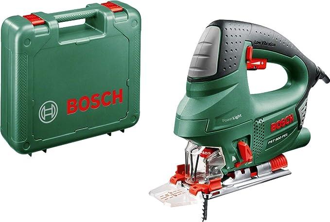 Scie sauteuse filaire Bosch - PST 900 PEL (620W, livrée avec lame, pare-Éclats, cutcontrol, capot de protection transparent, range-Lame, coffret de rangement)