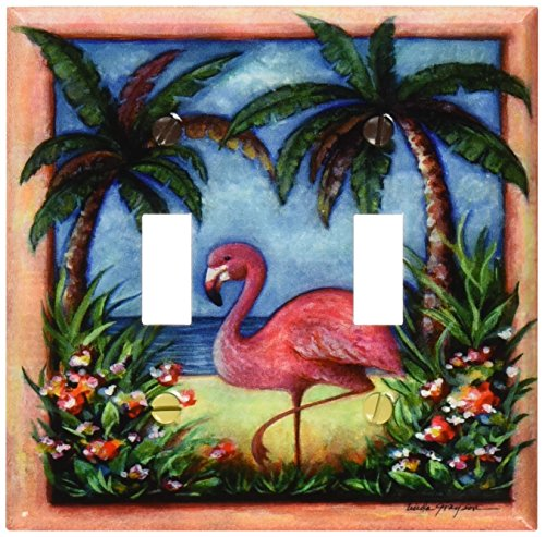 Flamingo Switchplate - Art Plates - Flamingo Switch Plate - Double Toggle