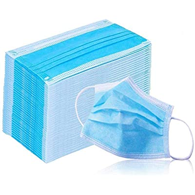JOJ 50 Pcs Disposable Filter 3 Ply Earloop Medical Anti Dust White: Clothing