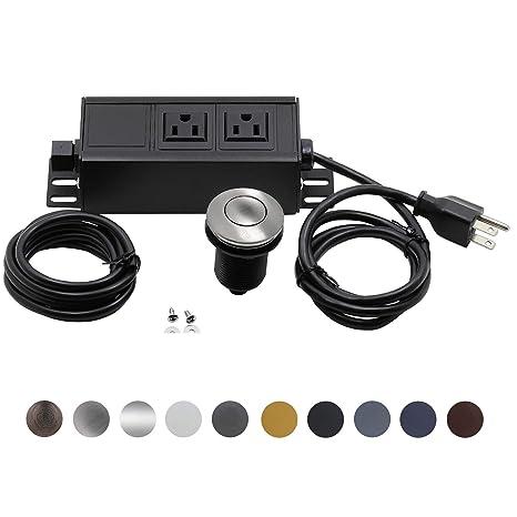 Amazon Garbage Disposal Air Switch Kit Dual Outlet Sink Top. Garbage Disposal Air Switch Kit Dual Outlet Sink Top Waste Onoff. Wiring. Dual Outlet Wiring At Scoala.co