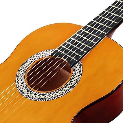 Strong Wind Guitarra acústica clásica 39 pulgadas 6 cuerdas de nylon Kit para principiantes de guitarra para estudiantes Niños adultos: Amazon.es: Instrumentos musicales