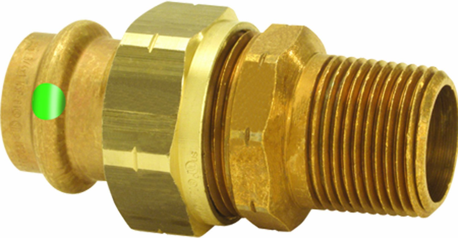 Viega 79745 ProPress Zero Lead Bronze Union with Male 1-1/4-Inch by 1-1/4-Inch P x Male NPT