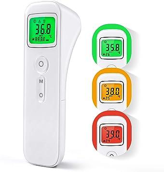 Adultos Term/ómetro Digital con Sensor Infrarrojo y Alarma de Fiebre Term/ómetro con 32 Memorias para Ni/ños