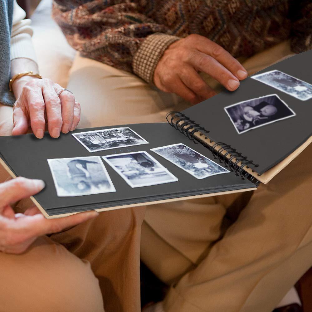 Sun Microsystems Fotoalbum, Fotobuch Fotoalben 20 Blätter (Insgesamt 40 Seiten) Fotoalbum Zum Selbstgestalten, Fotoalbum Schwarz Photo Album 31 x 21 cm, Geburtstagsgeschenk (Schwarz)