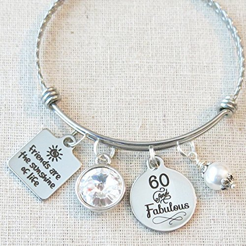 60th BIRTHDAY Gift For Her Milestone Birthday Gifts Friend 60 And Fabulous Tierracast