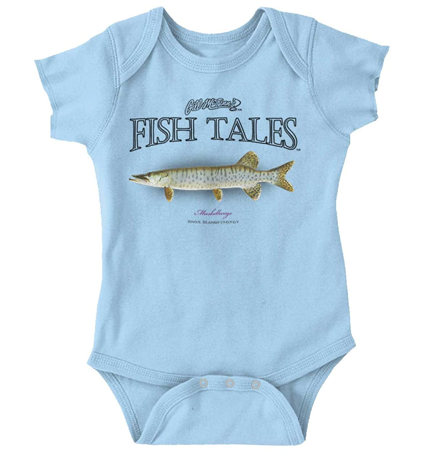 Fish Tale Fishing Shirt Sporting Goods Gill McFinn Lure Roe Infant Baby Romper