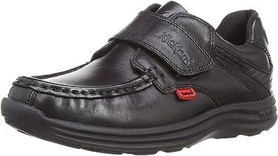 Kickers Reasan Strap Black Leather Kids